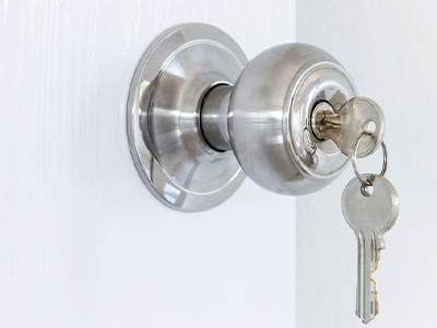 key in a doorknob